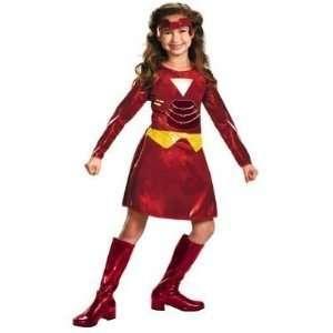 Ironette Iron Man 2 Girls Medium 7 8 Costume Toys & Games