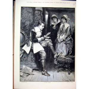 Love Sonnet 1885 Women Man Reading Romance Fine Art  Home