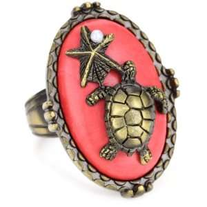Beyond Rings Enchanted Coral Sea Life Adjustable Ring Jewelry