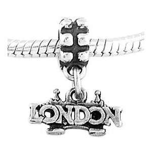 Sterling Silver London Bridge Dangle Bead Charm Jewelry