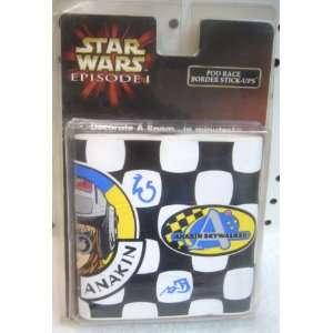 Star Wars Episode I Pod Race Border Stick Ups Toys & Games