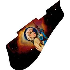 Ray Gun Girl Graphical 6136 Pickguard Musical Instruments