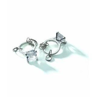 Big Bling Giant Diamond Gold Engagement Ring Fashion Keychain Bag