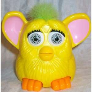 Furby Baby, 5 Yellow, Green Hair, Orange Feet, Pink Ears Doll Toy