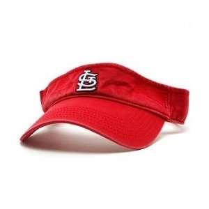 St. Louis Cardinals Womens Visor   Red Adjustable Sports