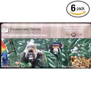 Endangered Species Rainforest Chocolate Bites  Dark Chocolate With