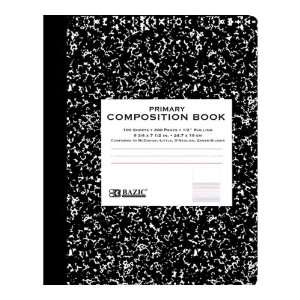 Bazic Primary Journal Composition Book, Black Marble, 100 Sheets (Case