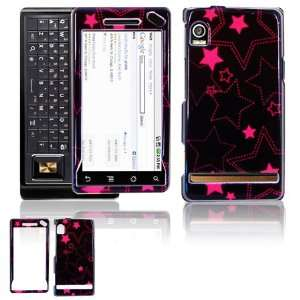 Black Pink Stars Design Hard Accessory Faceplate Case Cover + Screen
