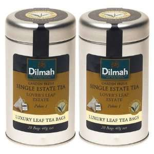 Dilmah Tea Single Estate Tea, Lovers Leap Estate, Pekoe 1, 20 ct Tea