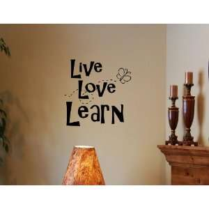 Live Love Learn Vinyl Wall Quotes Stickers Sayings Home