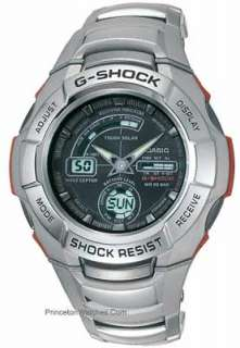 Casio G Shock Solar Atomic Watch Stainless Case & Bracelet GW1210A 1AV
