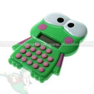 Wholesale Cartoon Design Frog Shaped Electronic Calculator Green
