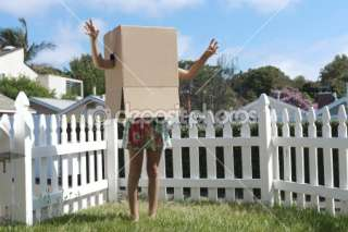 Cardboard box monster (blank version, create your own monster face) by