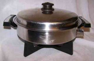 West Bend Oil Core ELECTRIC SKILLET Saladmaster Lid