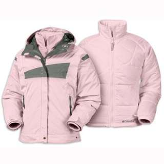Girl Columbia Ski Jacket Winter Coat Pink 3in1 sz 18 20