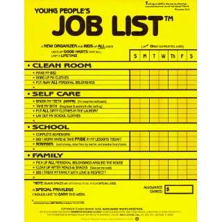 Young Peoples Job List: A New Organizer for Kids of All