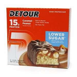 Buy Detour Lower Sugar 15g Whey Protein Bar, Caramel Peanut & More