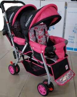 DOUBLE Stroller Baby Strollers BLUE BEBELOVE 2 Seats Multiple Multi