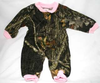 MOSSY OAK CAMOUFLAGE & PINK BABY INFANT SLEEPER
