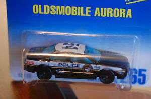 92 Hot Wheels Olds Aurora Police Car Black+White #265