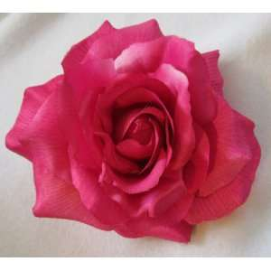 NEW Large Pink Rose Hair Flower Clip and Pin, Limited