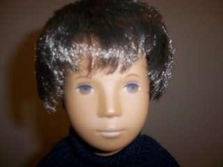 Vintage Sasha Doll Dark Black Hair Boy Gregor 1968 w/ Original Tube