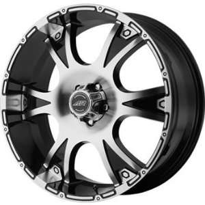 American Racing Dagger 18x8 Machined Black Wheel / Rim 8x180 with a