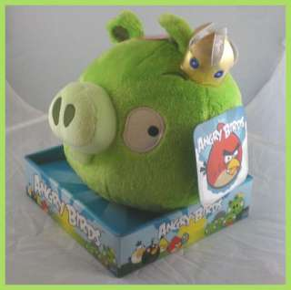 Angry Birds 8 Plush Green Pig King Sound NEW