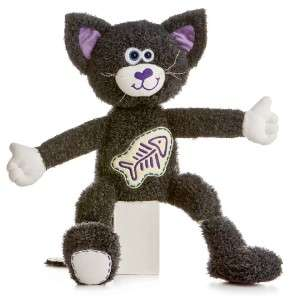 14 Aurora Plush Black Kitty Cat Stuffed Animal Toy NEW