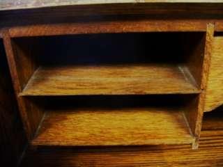 Antique Solid Wood Mahogany Secretary Desk