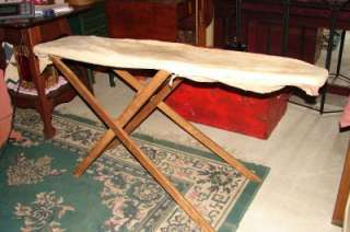 VINTAGE   ANTIQUE WOODEN IRONING BOARD |