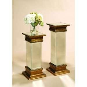Antique Gold Mirrored Pedestal