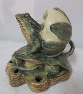 Antique Weller Pottery Muskota Frog Flower Frog HTF Unsigned Early