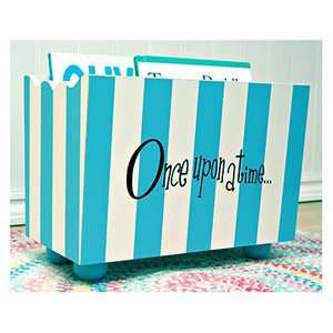 New Arrivals Once Upon a Time Blue Stripe Hand Painted Book Holder