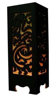 DRAGON STENCIL ASIAN ORIENTAL BAMBOO TABLE LAMP