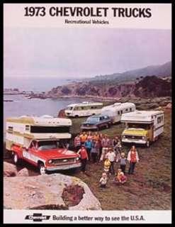 1973 Chevy Chevrolet RV Blazer Camper Truck Brochure