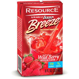 Resource Breeze, Clear liquid nutrition beverage, Wild Berry 27 X 8