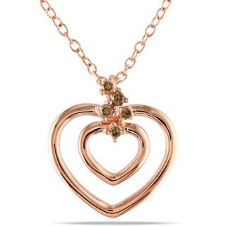 Pink Plated Sterling Silver Heart Pendant, 18 Pendants & Necklaces