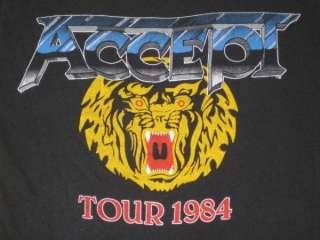 1984 ACCEPT BALLS TO THE WALL VTG CONCERT T SHIRT TOUR