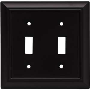 Brainerd Architectural Double Switch Wall Plate, Flat