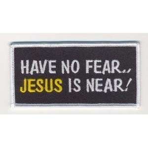 NO FEAR JESUS Christian Embroidered Biker Patch!!!: Everything Else