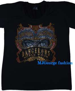 Michael Jackson  Dangerous rhinestone t shirt