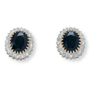 Palm Beach Jewelry Sterling Silver Midnight Blue Sapphire