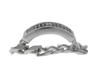 Stainless Steel Black Diamond Ring SIZE 9 NEW Retail $1,260