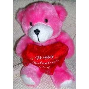 Plush Happy Valentine Day Pink Teddy Bear Doll Toy Toys & Games
