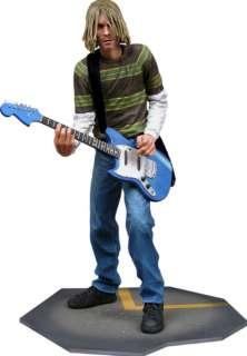 Kurt Cobain Nirvana Figure Fender Mustang Guitar +Stand