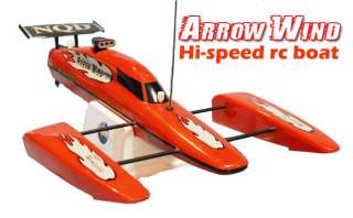 Arrow Wind Electric RC Speed Boat RTR 1/16 Catamaran