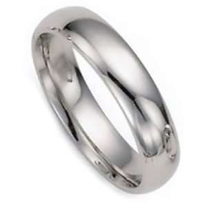 4.0 Millimeters White Gold Heavy Wedding Band Ring 14Kt