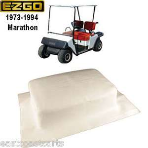 1d5efc1ffb6 ... EZGO 1973 1994 Marathon Golf Cart WHITE Vinyl Seat Back Cover 15454 G1  ...