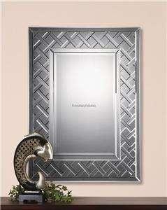 XL Extra Large Frameless Venetian Lattice Wall Mirror Oversize Vanity